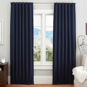 Pottery Barn Quincy Cotton Canvas Blackout Curtain